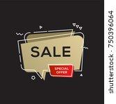 black friday sale golden banner ...   Shutterstock .eps vector #750396064
