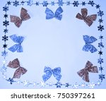 winter background with bows | Shutterstock . vector #750397261