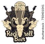 vector banner for a rock pub...   Shutterstock .eps vector #750401041