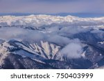 mountain landscape in winter.... | Shutterstock . vector #750403999