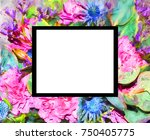 abstract flower picture ...   Shutterstock . vector #750405775