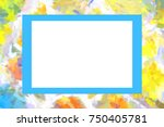 mock up stone wall frame  card  ...   Shutterstock . vector #750405781