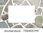 mock up stone wall frame  card  ...   Shutterstock . vector #750405799
