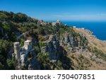 panoramic view to tyrrhenian... | Shutterstock . vector #750407851