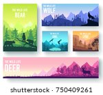 wildlife in nature vector... | Shutterstock .eps vector #750409261