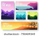 nature vector brochure cards... | Shutterstock .eps vector #750409345