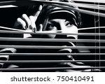 closeup shot of sexy young... | Shutterstock . vector #750410491
