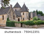 medieval houses in the village... | Shutterstock . vector #750412351