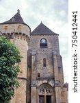 romanic church of saint amand... | Shutterstock . vector #750412441