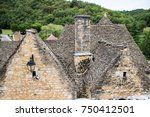 medieval houses in the village... | Shutterstock . vector #750412501