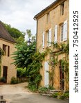 medieval houses in the village... | Shutterstock . vector #750412525