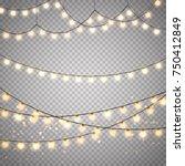 christmas lights set isolated.... | Shutterstock .eps vector #750412849