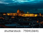 view of illuminated saint vitus ... | Shutterstock . vector #750413641