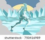 frost ice monster mythology... | Shutterstock .eps vector #750416989