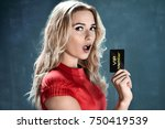 delighted beautiful woman...   Shutterstock . vector #750419539