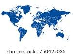 color world map vector | Shutterstock .eps vector #750425035
