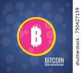 bitcoin logo. cryptography... | Shutterstock .eps vector #750427159