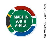 made in south africa label... | Shutterstock .eps vector #750427534