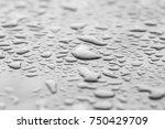 water droplets metallic paint | Shutterstock . vector #750429709