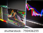 stock market charts and numbers ... | Shutterstock . vector #750436255