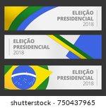 banner brazil vote campaign... | Shutterstock .eps vector #750437965