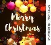 christmas. merry christmas... | Shutterstock .eps vector #750443101