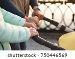 close up photo  hands of young... | Shutterstock . vector #750446569