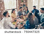 multiethnic friend s gathering. ... | Shutterstock . vector #750447325