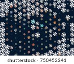 abstract winter background with ...