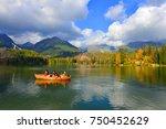 Stock photo autumn landscape of strbskie pleso in slovakia 750452629