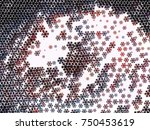 abstract winter background with ... | Shutterstock .eps vector #750453619