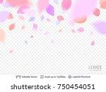 pink pastel petals on...   Shutterstock .eps vector #750454051