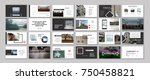 original presentation templates.... | Shutterstock .eps vector #750458821