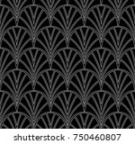 elegant stripe vector floral... | Shutterstock .eps vector #750460807