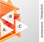 color triangles background ... | Shutterstock .eps vector #750462325