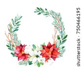 christmas and new year... | Shutterstock . vector #750466195