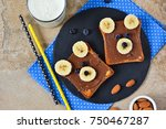 breakfast for children   toast... | Shutterstock . vector #750467287