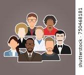 group people diversity  diverse ... | Shutterstock .eps vector #750468181