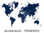 world map vector | Shutterstock .eps vector #750469051