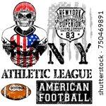 american football   vintage... | Shutterstock .eps vector #750469891