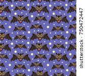 seamless pattern with funny... | Shutterstock .eps vector #750472447