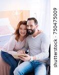 my beloved spouse. gleeful... | Shutterstock . vector #750475009