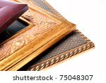 three picture frames are...   Shutterstock . vector #75048307