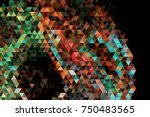 mosaic background.  geometric... | Shutterstock .eps vector #750483565