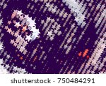 abstract background with stars. ... | Shutterstock .eps vector #750484291