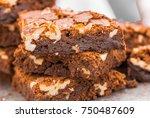 dark chocolate and cocoa... | Shutterstock . vector #750487609