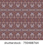 ethnic style pattern for fabric.... | Shutterstock . vector #750488764
