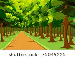 illustration of road going in... | Shutterstock .eps vector #75049225