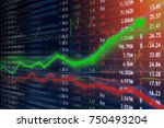 investing and stock market... | Shutterstock . vector #750493204