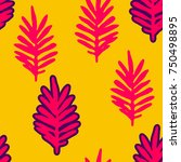 tropical background with pink ... | Shutterstock .eps vector #750498895